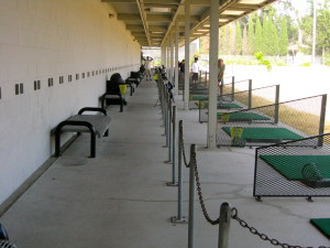 Driving range at Delaveaga Golf Course.